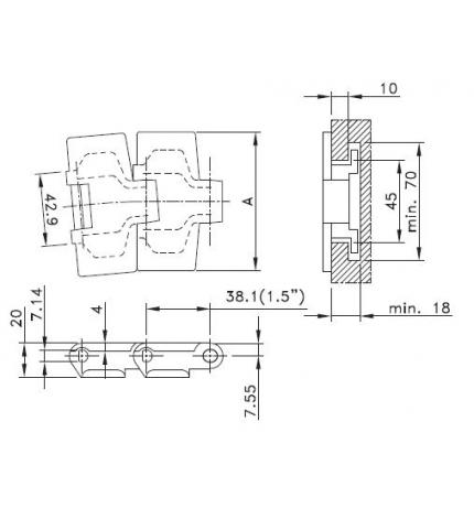 HP 880 TAB-K325 pasador no magnético